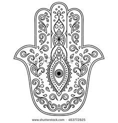 Find Hamsa Hand Drawn Symbol Decorative Pattern stock images in HD and millions of other royalty-free stock photos, illustrations and vectors in the Shutterstock collection. Hand Tattoos, Hamsa Hand Tattoo, Hamsa Art, Mandala Art, Mandala Painting, Hamsa Tattoo Design, Hamsa Design, Colouring Pages, Adult Coloring Pages