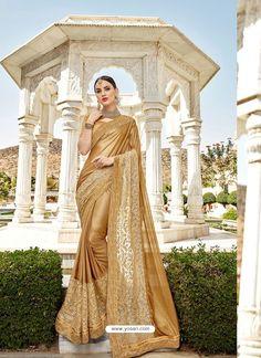 Saree Fashion, Women's Fashion, Golden Saree, Wedding Sarees, Indian Ethnic Wear, Bridesmaid Dresses, Wedding Dresses, Saree Styles, Indian Outfits