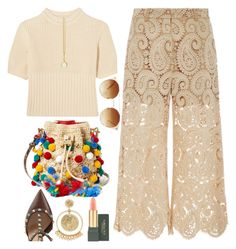 """""""BA55: What about Morocco?"""" by bugatti-veyron on Polyvore featuring self-portrait, Dolce&Gabbana, Totême, BaubleBar, Valentino, Forever 21, Prism Design and MAC Cosmetics"""