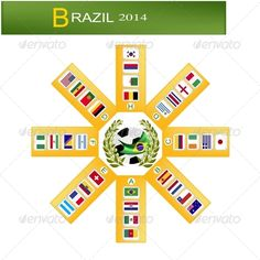 Eight Group of Soccer Tournament in Brazil 2014 ...  Calendar Date, africa, asia, ball, brazil, brazilian, challenge, champ, champion, championship, chart, competition, country, cup, day, entrant, europe, event, final, flag, football, game, goal, group, group A, league, leather, match, nation, national, north america, qualification, qualified, round, schedule, soccer, south america, sport, squad, states, team, time, tournament, vector, winning, world, zone