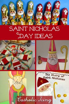 Nicholas day- this is the ultimate list for St. Nicholas' feast day and it's everything you need! Shoe stuffing ideas, crafts, activities, tradtions, and more! Catholic Religious Education, Catholic Crafts, Catholic Kids, Catholic School, Christmas Traditions Kids, Christmas Activities, Catholic Icing, Advent For Kids, St Nicholas Day