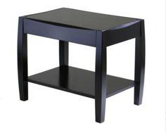 Unique End Table Sturdy Legs Modern Living Room Furniture Dark Espresso Finish