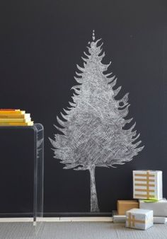 (or draw it onto a big piece of butcher paper and have the kids draw and glue onto it)  Anya Adores: DIY Trees