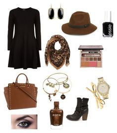 """Fall in a nutshell"" by kamero88 on Polyvore featuring Sole Society, DKNY, Kendra Scott, Steve Madden, MICHAEL Michael Kors, Alexander McQueen, Urban Decay, Alex and Ani, FOSSIL and Kate Spade"
