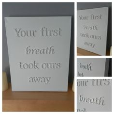 Handmade Large Quote Canvas - Breath.