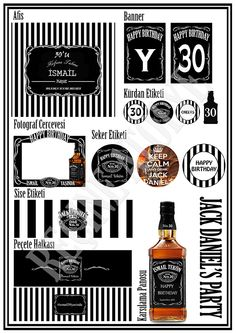 Jack Daniels Party Theme by Recine Party
