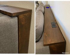 Behind the Couch Console Table Plans Diy Couch, Home Furniture, Furniture For Small Spaces, Small Bathroom Decor, Home Diy, Table Behind Couch, Shelf Behind Couch, Diy Sofa Table, Couch Table