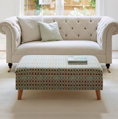 #thedormyhouse Storage footstools with small retro legs