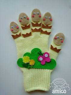 新作〜♪つくしんぼうの手袋シアター! の画像|amicoの手袋シアター♪