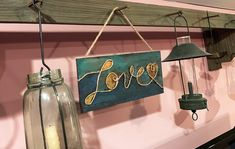 Love Wood Plaque Mason Jar Lamp, Wood Plaques, Easy Thanksgiving Crafts, Wooden Arrows, Chalk Lettering, Digital Coupons, Gift Card Balance, Seashell Art, General Crafts