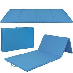 Gymnastics Gym Folding Exercise Aerobics Mats Mat contains 2 inches of foam that provide a comfortable workout and cushion for any falls Surface is made out of PU leather making the mat non-absorbent and very easy to clean The sides contain a handle for easy transportationhttp://k-dpro.com/product/4x10x2-gymnastics-gym-folding-exercise-aerobics-mats-stretching-yoga-mat/