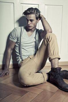 Handsome Men Looks with Suspenders (17)