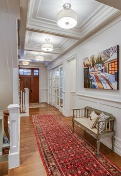 Traditional foyer by Johnson & Associates Interior Design