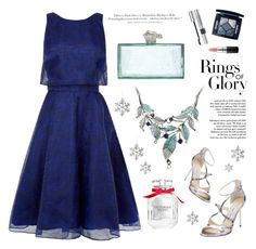 """""""Frozen"""" by fikanur4 ❤ liked on Polyvore featuring Tiffany & Co., Jimmy Choo, Christian Dior, Victoria's Secret, MAC Cosmetics, Bethany Lowe, Kate Spade and H&M"""