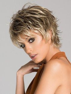 Women Short Wigs 2019 Flaxen Wave Curly Tousled Synthetic WAfbeeldingsresultaten voor Short Shag Hairstyles for Women Over 50 Back VeiwsClick by Ellen WilleResultado de imagen de Sassy Hairstyles for Over 50 Edgyhighlights and lowlights for short brown ha Short Choppy Hair, Short Shag Hairstyles, Short Hair Wigs, Short Hair With Layers, Short Hairstyles For Women, Messy Hairstyles, Short Haircuts, Long Hair, Short Pixie