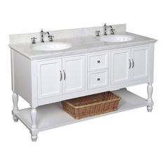 "Kitchen Bath Collection Beverly 60"" Double Sink Bathroom Vanity Set; $1549"