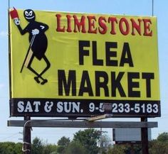 Limestone Flea Market claims to be Alabama's largest indoor flea market. It is open Saturdays & Sundays, year round, from 9 to 5 p.m. regardless of weather conditions. It is located at 30030 Highway 72 West in Madison, Alabama. For more information, call (256) 233-5183.