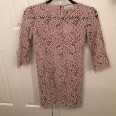 All over lace mini dress All over lace mini dress with back zipper detail. Dresses Mini