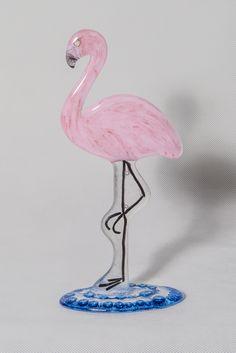 TishArtGlass-Flamingo made by Tish