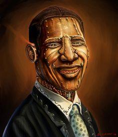 President Barack Obama Steampunk by Benjo Camay