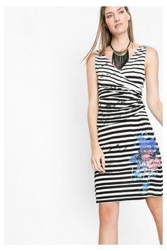 Desigual černo-bílé šaty Barack - Dámské Šaty ♥ Different. f64fadfa95