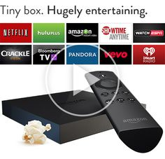 Amazon Fire TV---Amazon Fire TV is a tiny box you connect to your HDTV. It's the easiest way to enjoy Netflix, Prime Instant Video, Hulu Plus, low-cost movie rentals, and much more!! Redeem your Opinion Outpost points now!