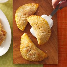 Hand-Held Apple Pies Recipe -When I was in high school, my best friend's mother baked mini apple pies every Christmas. I was thrilled when she shared the recipe with me—it made me feel like I was finally an adult! —Katie Ferrier Gage, Houston, Texas