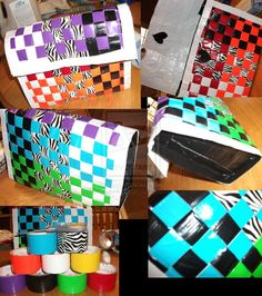duck tape craft projects | Woven Duct Tape Bag by ~DinosaurATTACK on deviantART