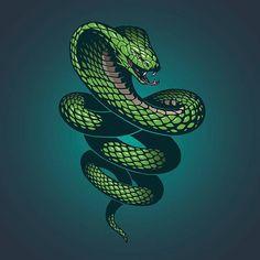 Illustration about Green nake illustration in vector. Illustration of poison, danger, abstract - 64250875 Cobra Tattoo, Snake Tattoo, Illustration Vector, Vector Art, Snake Sketch, Snake Wallpaper, Shiva Tattoo, Snake Art, Japanese Tattoo Art