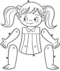 puzzle diy body parts Amazing Science Experiments, Art For Kids, Crafts For Kids, Body Preschool, Paper Puppets, Paper Dolls Printable, Preschool Worksheets, Kids Education, Pre School