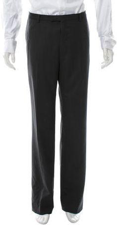 Gucci Wool Flat Front Pants Mens Dress Pants, Wool Pants, Gucci, Sweatpants, Flats, Stylish, Tops, Fashion, Loafers & Slip Ons