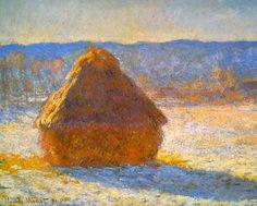 Monet's Haystacks in the Snow | Monet // Haystacks in Snow