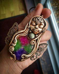 Butterfly fairyfairyhandmade  jewellerylabradorite goddess