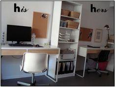 Double desk ikea micke bi ba ikea micke desk