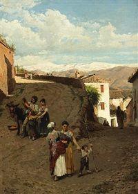 The orange sellers by Ramón Tusquets Maignon