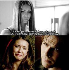 #TVD The Vampire Diaries Elena & Damon