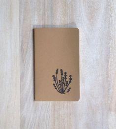 Natural Botanical hand printed large journal by RetroModernArt, $15.00 #stockingstuffer #etsy #journal