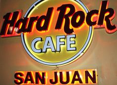 Did you know that the Hard Rock Cafes are American-Indian owned? I loved this one in San Juan,Puerto Rico