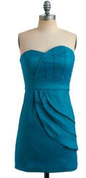 ModCloth: Teal Tides Dress@Annie Catrambone