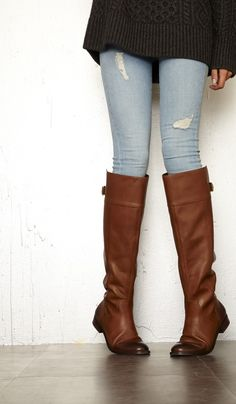 leather riding boot