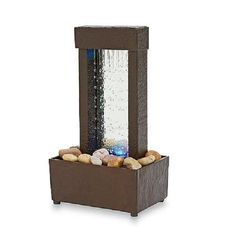 Indoor Tabletop Water Fountain Mini Desk Waterfall Tranquil  Home Decor Gift #Unbranded