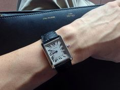 #Cartier Tank Solo. My dear friend maurice had this ...He let me wear his to an event...He was scared all night until he go it back in his hands..lol