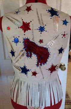 Patriotic Rodeo vest made by Melloworks