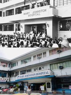 Dito, Noon: Mary Johnston Hospital, Manila, 1950 x 2019 #kasaysayan  — The hospital began as a small clinic in a Bible School along Rizal Avenue in Sta. Cruz, Manila on 10 December 1906. Mr. Daniel S.B. Johnston, a Methodist layman from St. Paul, Minnesota gifted $12,500 for the purchase of its current location, as a memorial to his late missionary wife, Mrs. Mary Johnston. The hospital was burned down in WWII and rebuilt, with the President Quirino in attendance at the re-opening in 1950. 10 December, Quezon City, Current Location, Attendance, Present Day, Manila, Wwii, Minnesota, Philippines