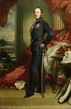 'Prince Albert of Saxe-Coburg-Gotha', replica by Franz Xaver Winterhalter. © National Portrait Gallery, London Making a queen - A History of Royal Fashion - University of Glasgow Franz Xaver Winterhalter, Queen Victoria Family, Queen Victoria Prince Albert, Victoria And Albert, Albert Prince Consort, Charles Emmanuel, Reine Victoria, The Royal Collection, Herzog