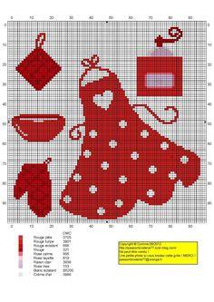cuisine - kitchen - accessoires - point de croix-cross stitch - broderie-embroidery- Blog : http://broderiemimie44.canalblog.com/