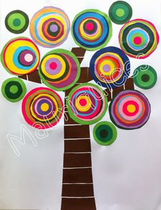 Have the students make Kandinsky circles to add to our LiM tree for more student participation Kandinsky For Kids, Kandinsky Art, Art For Kids, Crafts For Kids, Arts And Crafts, Paper Crafts, Preschool Art Activities, Kindergarten Art Projects, Aluminum Can Crafts