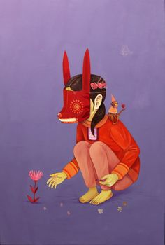 """Sabina"", 2018 de SANER - Courtesy GALERIE ITINERRANCE © Photo Éric Simon Pop Art, Art Et Illustration, Neon Genesis Evangelion, Mexican Art, Psychedelic Art, Body Art Tattoos, Street Art, Character Design, Graffiti Art"