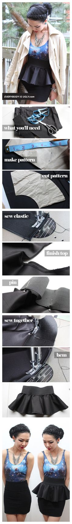 DIY Detachable Peplum. who wants to sew this for me?!