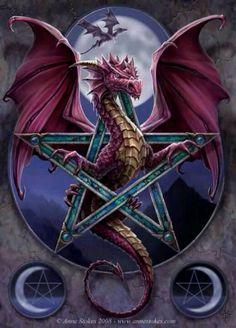 Anne Stokes wiccan pagan dragon fantasy art                                                                                                                                                                                 Plus